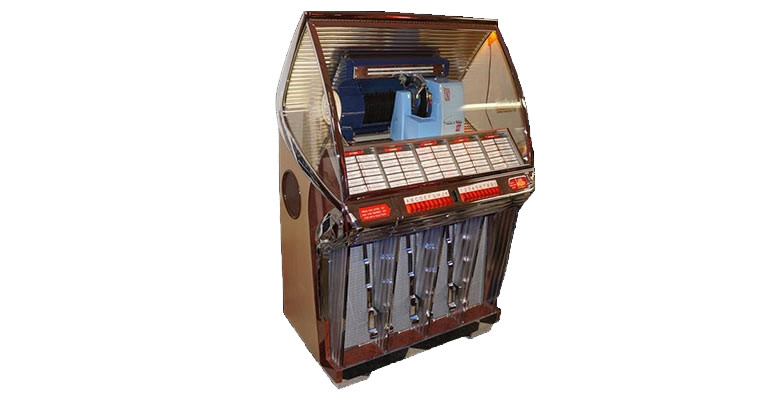 "Lot# 6387 - Stellar 1954 Seeburg model ""R"" restored diner Jukebox."